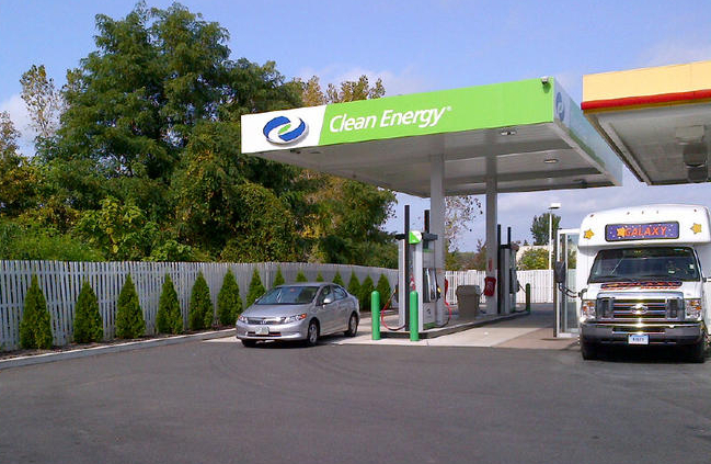 CNG Station at Bradley Airport